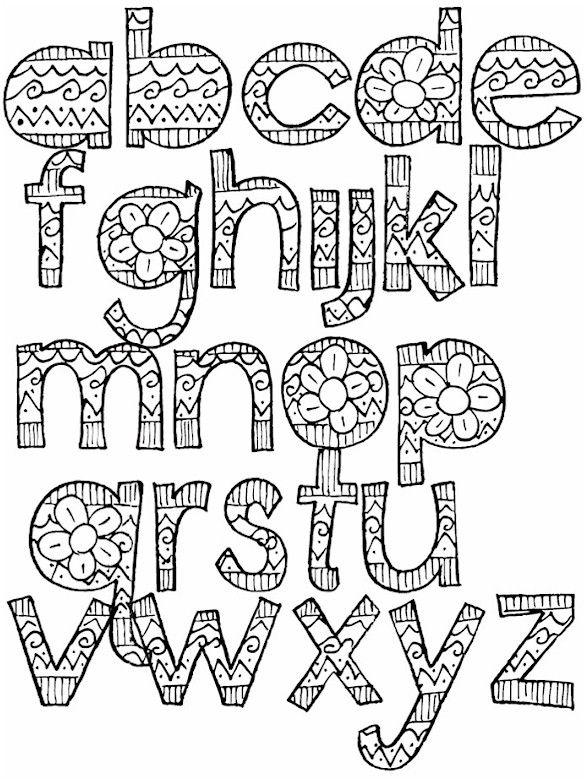 Alphabet Coloring Pages Doodle Lettering Lettering Alphabet Alphabet Coloring Pages
