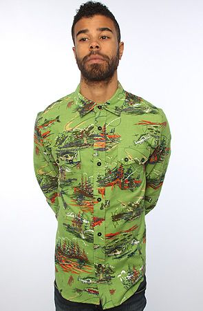 767b19cae Billionaire Boys Club The Fly Fishing Buttondown in Garden Green, Save 20%  off with Rep Code: PAMM6