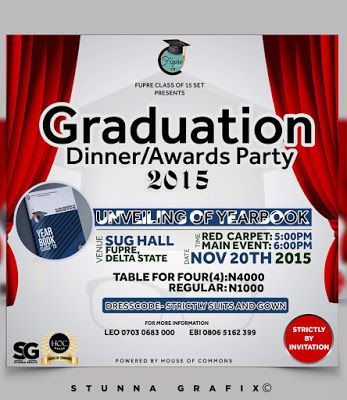 LEGIT NEWS: GRADUATING STUDENTS IN FUPRE HOST A DINNER/AWARD PARTY