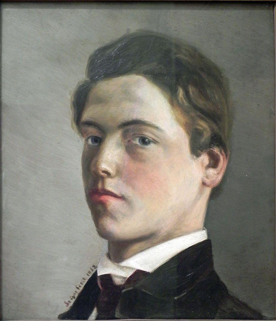 Wilhelm Leibl, self-portrait,1862