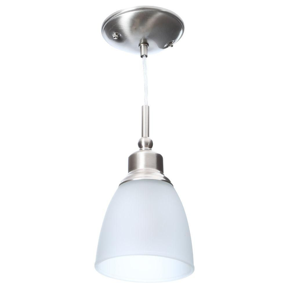 Commercial electric light brushed nickel mini pendant pack