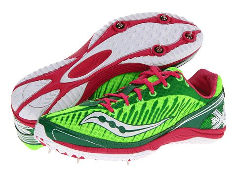 Womens Shoes Saucony Kilkenny XC5 Flat W Green/Pink