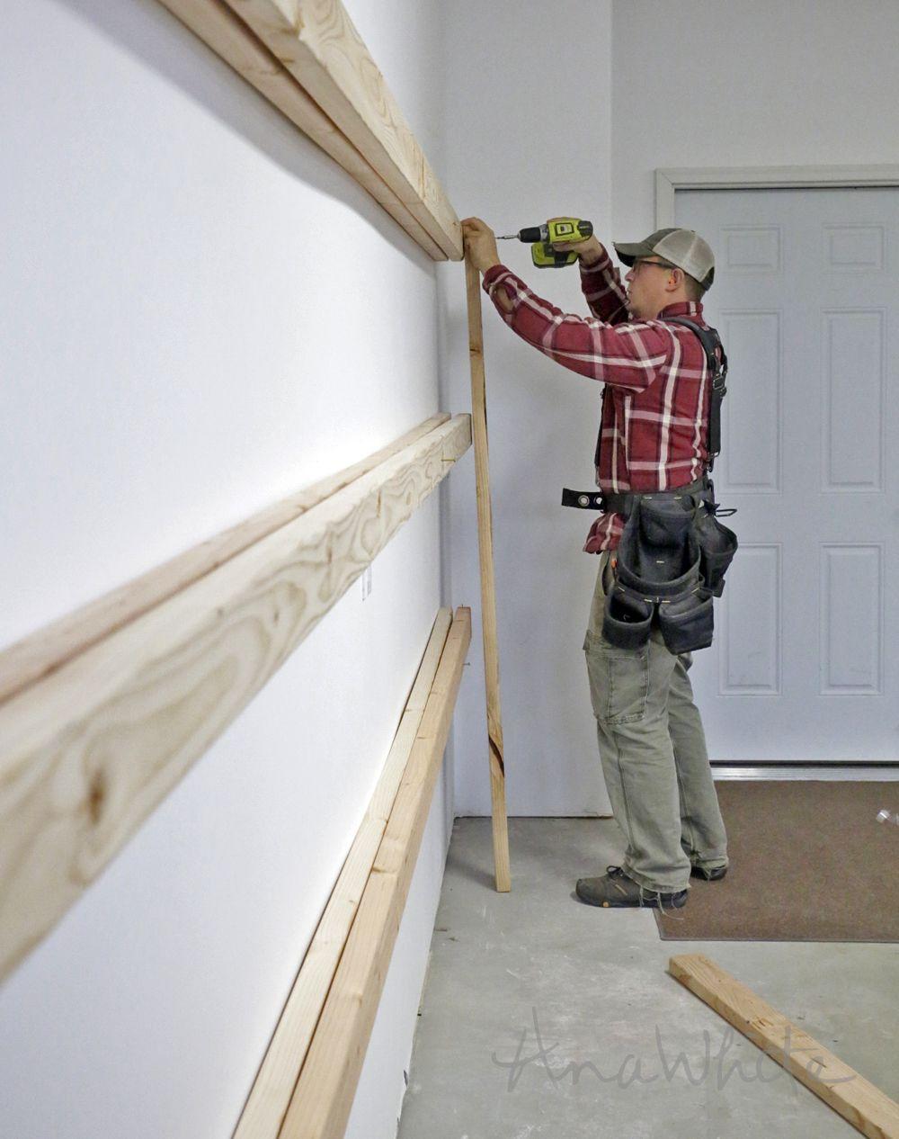 BEST DIY Garage Shelves (Attached to Walls) Diy garage