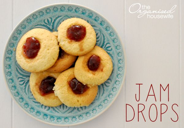 The Most Delicious Jam Drop Recipe The Organised Housewife Recipe Jam Drops Recipe Jam Drop Biscuits Drops Recipe