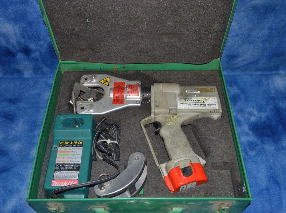 Details about Greenlee Gator EK06FT 3 Battery Hydraulic