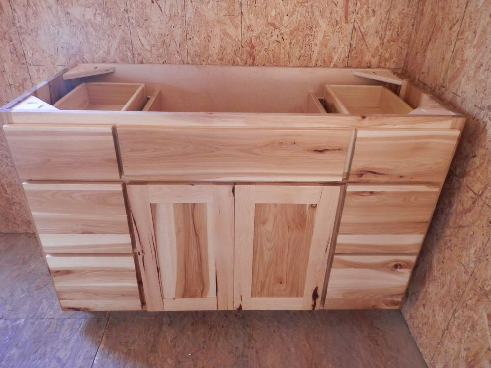 500 Amish Made 48 Hickory Vanity Custom Rustic American Made