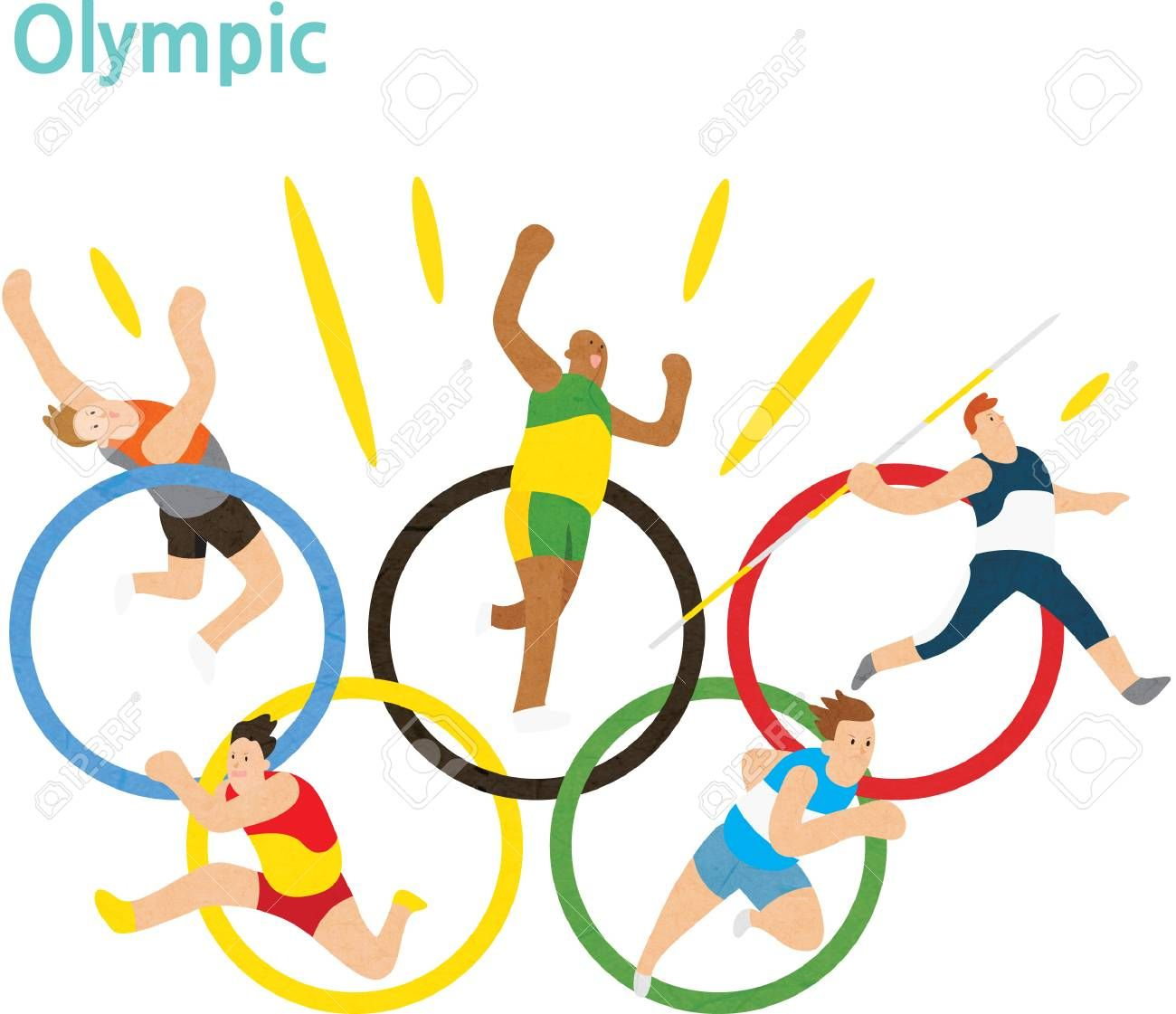 Olympic logo wiry athletes , AFF, logo, Olympic,