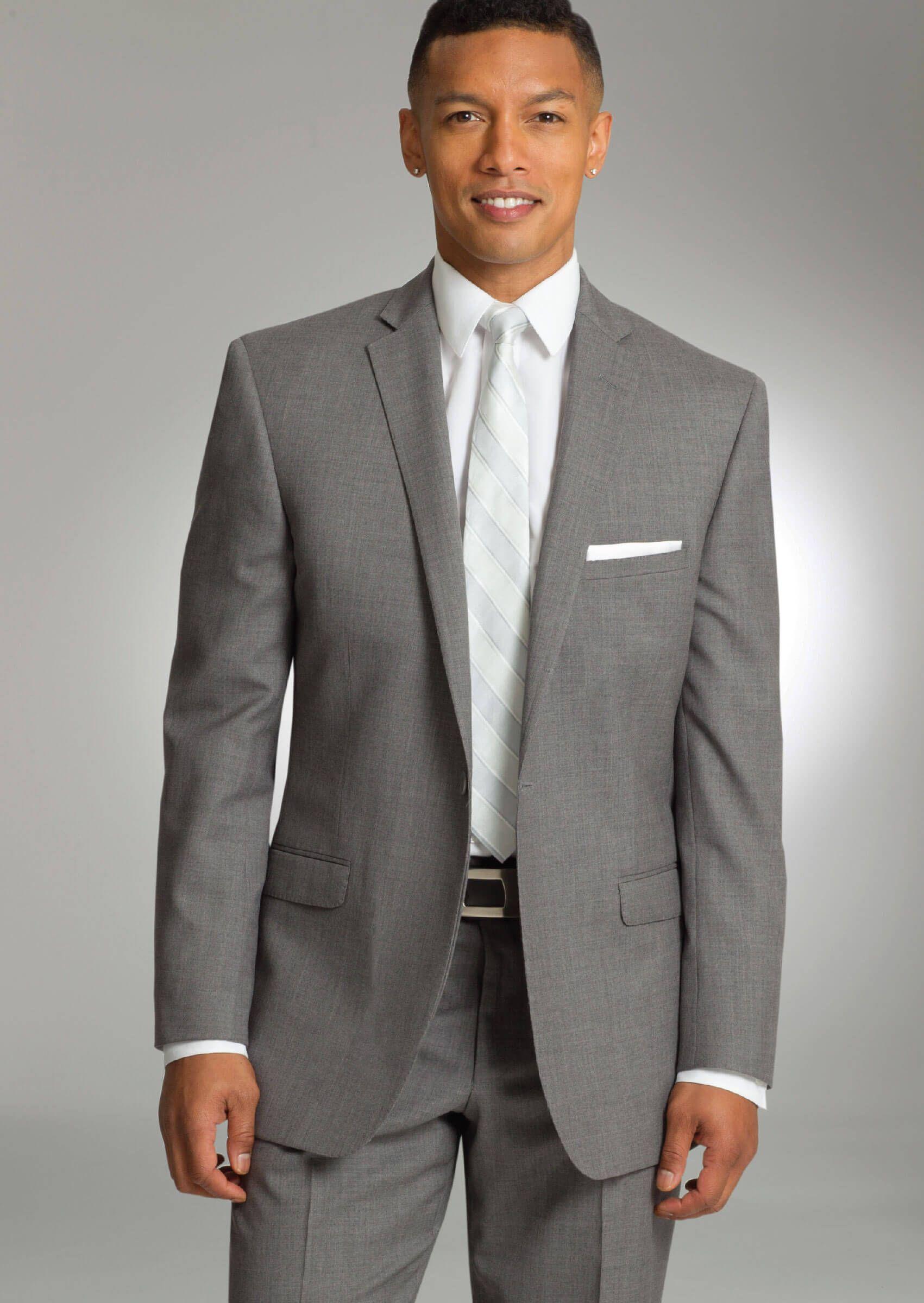 Grey Valencia One Button Notch Dress Suit by Savvi   SARNO / SAAVI ...