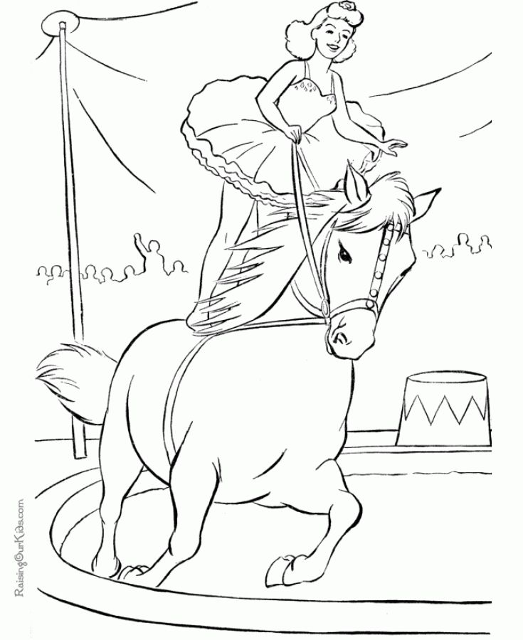 Horse in a circus show hard coloring pages for grown ups | Animal ...