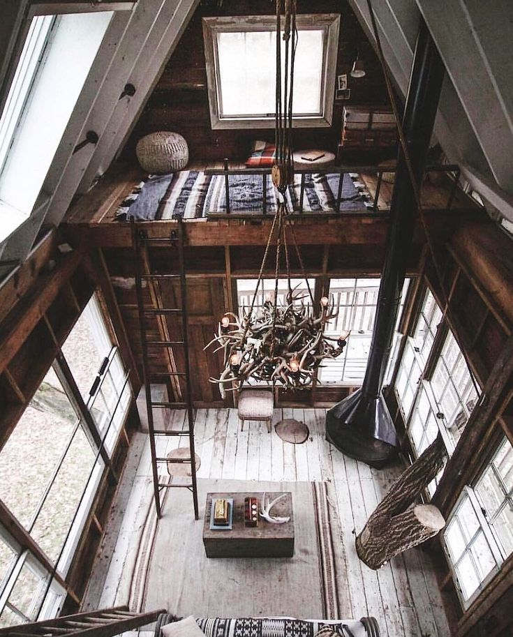 Want a little loft like this above the master bed.
