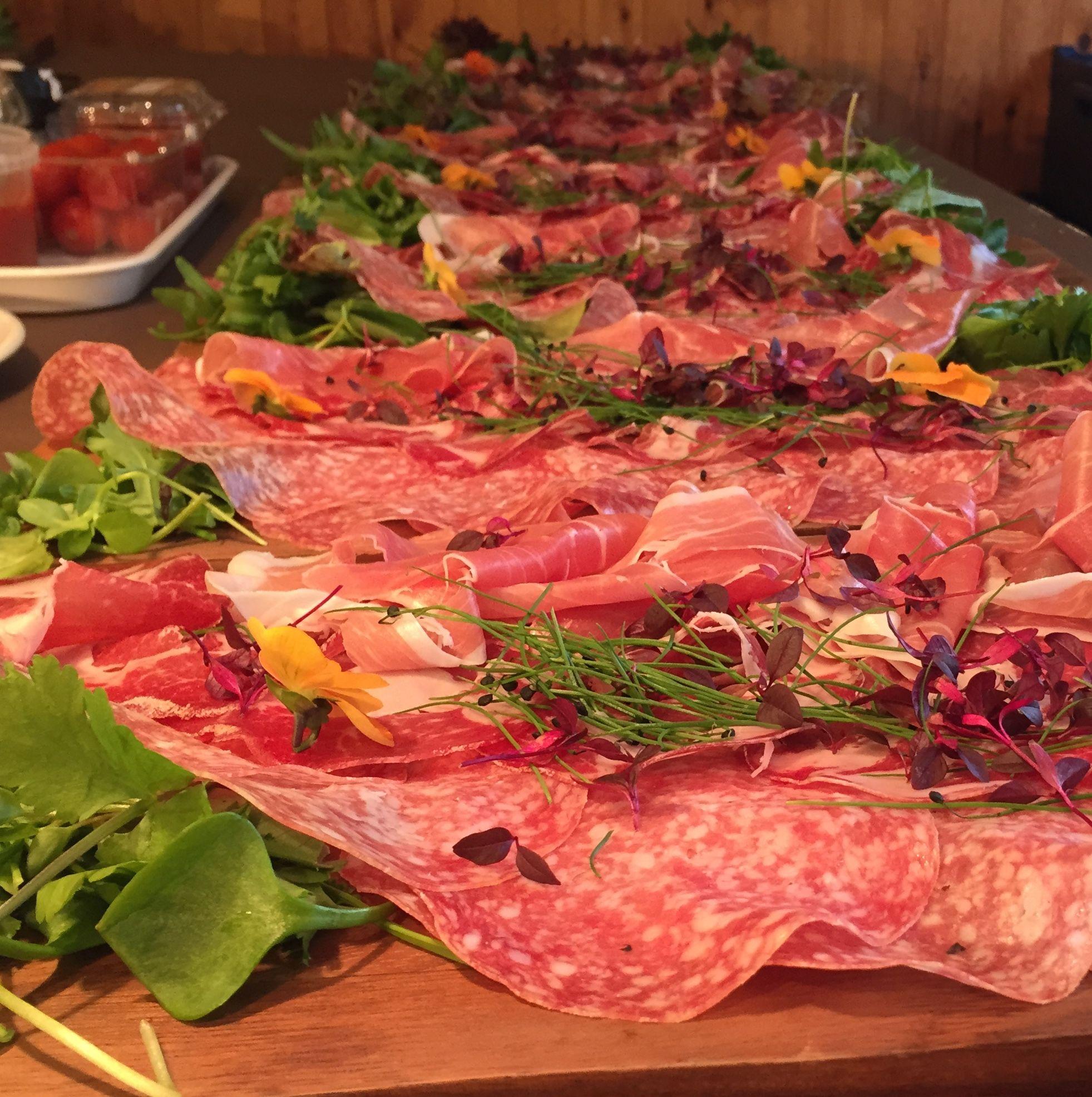 Our charcuterie platter as part of a mediterranean inspired buffet