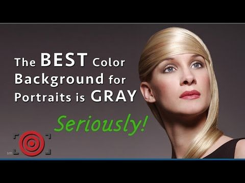 The Best Color Photography Background For Portraits Is Gray Background For Photography Color Photography Portrait Background