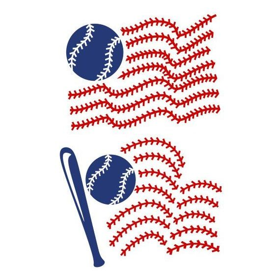 Photo of Baseball Flag Usa United states of america Cuttable Design SVG PNG DXF & eps Designs Cameo File Silh