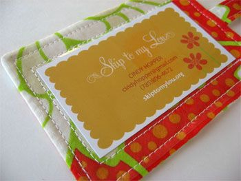 how to make fabric tag