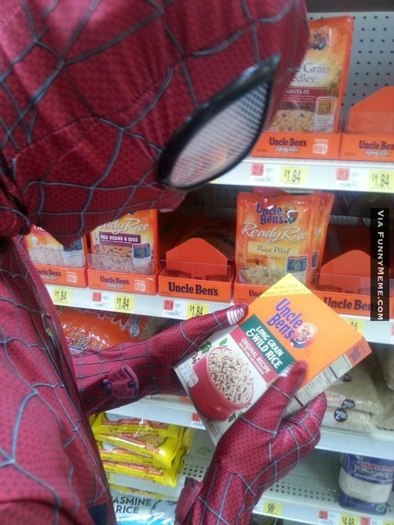funny memes spiderman uncle bens rice movie tv