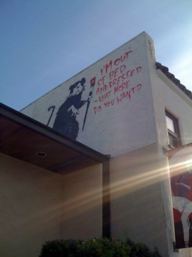 Contemporary Art · Banksy, Out Of Bed Rat, Los Angeles. Iu0027m A Bit Of