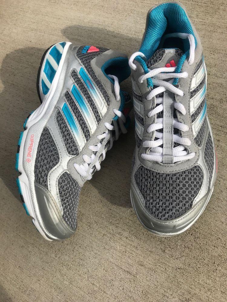 734f7a41fbc7d4 Adidas Adiprene OZWEEGO WOMENS Running Shoes 5 Grey Teal 9072 Walk Go Shoes