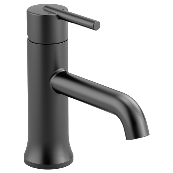 Matte Black Trinsic Gpm Single Hole Bathroom Faucet Includes Metal Pop Up Drain Embly