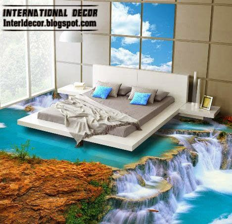 3D Floor Murals And Self Leveling Floors Unusual Covering Ideas 2015