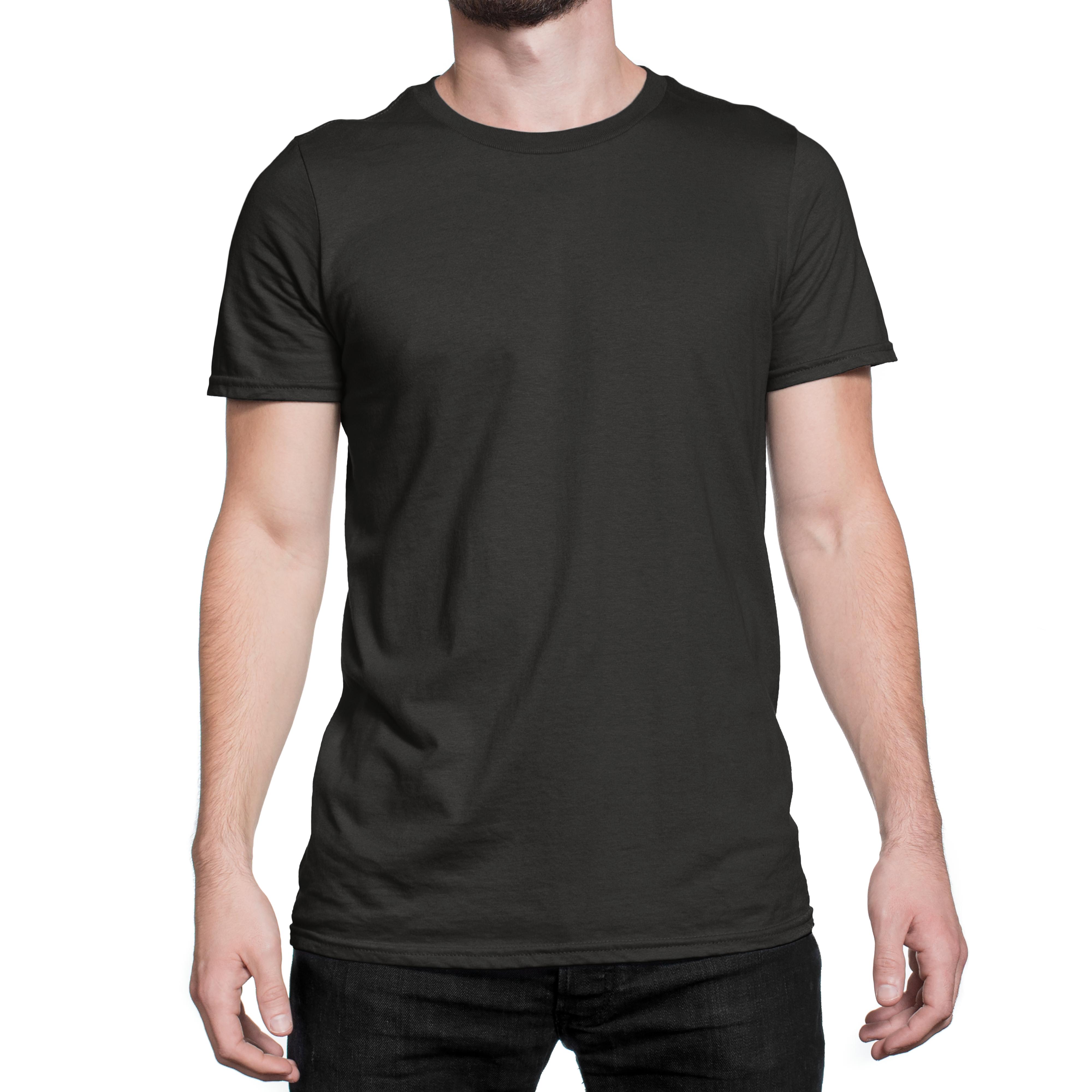 Plain Black T Shirt Unisex Front View Colorcapital Plain Black T Shirt Mens Tshirts T Shirt