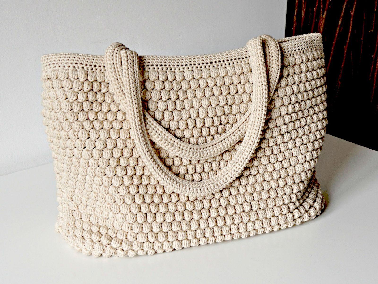 Tote Handle Bag pattern by Tatiana Zuccalà | Bolso crochet patron ...