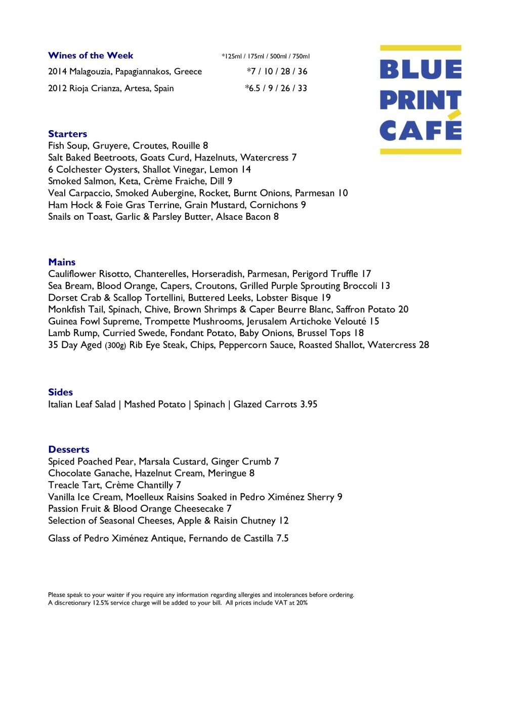 A la carte blueprint cafe menu dd london eatery pinterest a la carte blueprint cafe menu dd london malvernweather Gallery