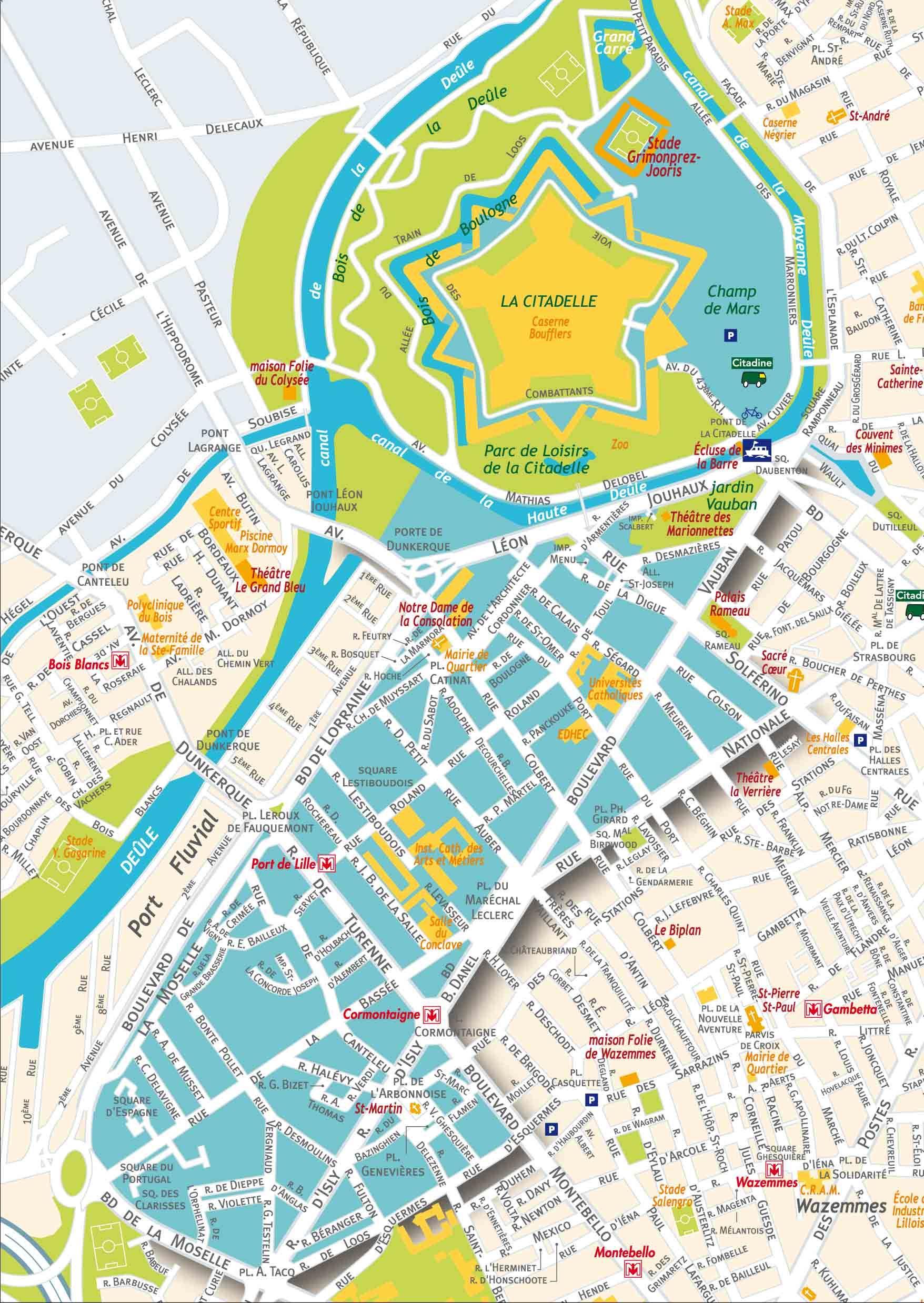Plan De Vauban Esquermes Lille Pinterest