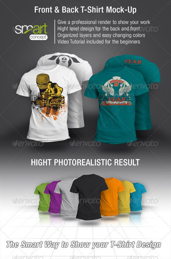 Front And Back T Shirt Mock Up T Shirts Apparel Photoshop Mock