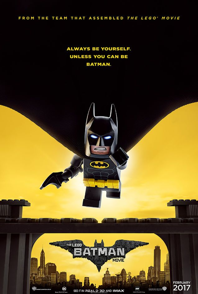 New Movie Poster Says We Should All Be Lego Batman