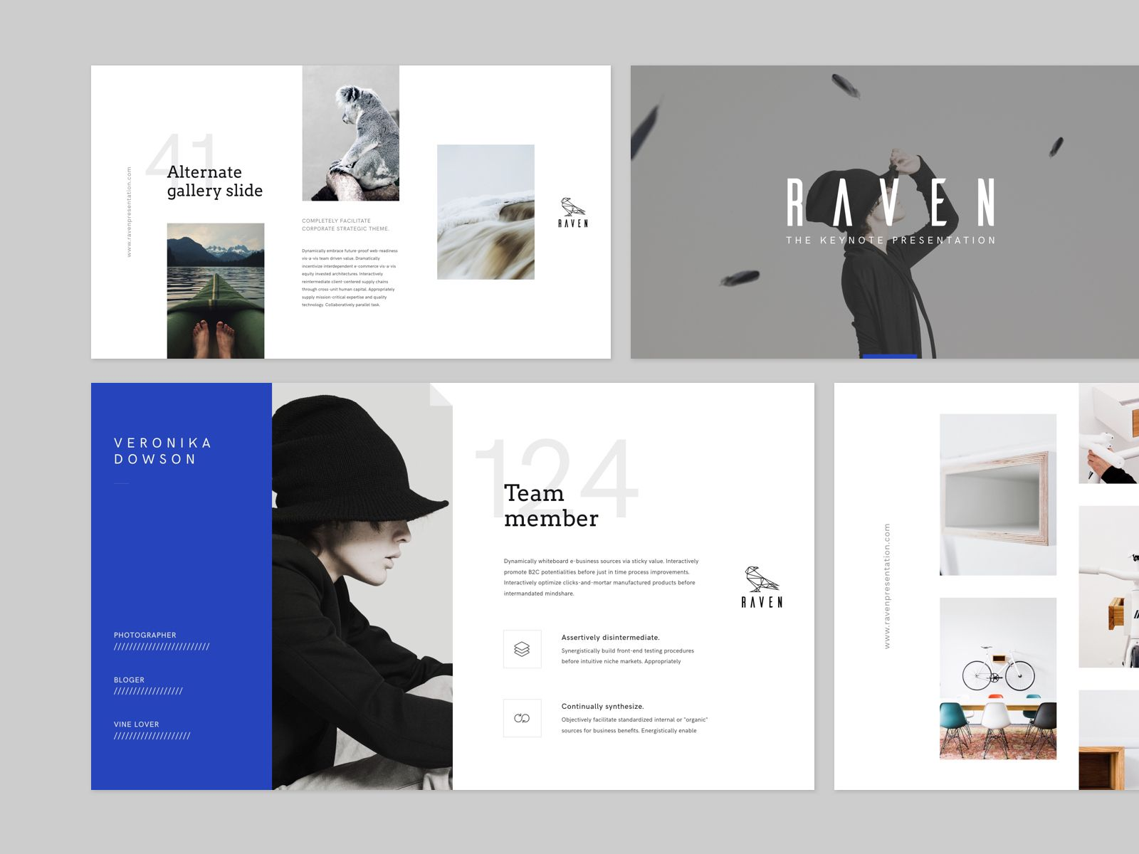raven keynote presentation templategoashape on @creativemarket, Presentation templates