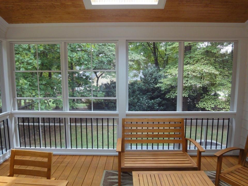 Eze Breeze With Deckorator Balusters By Raleigh Sunrooms