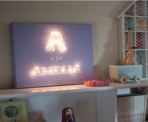 Alphabet Illuminated Canvas - lighting girls room | Amelias