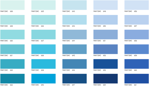 nuancier bleu pantone recherche google couleurs. Black Bedroom Furniture Sets. Home Design Ideas