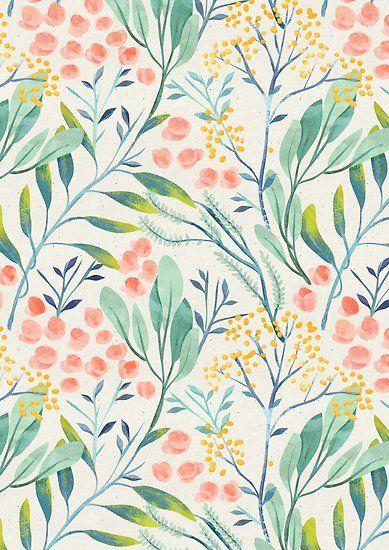 'Botanical Garden' Poster by irtsya #surfacepatterndesign
