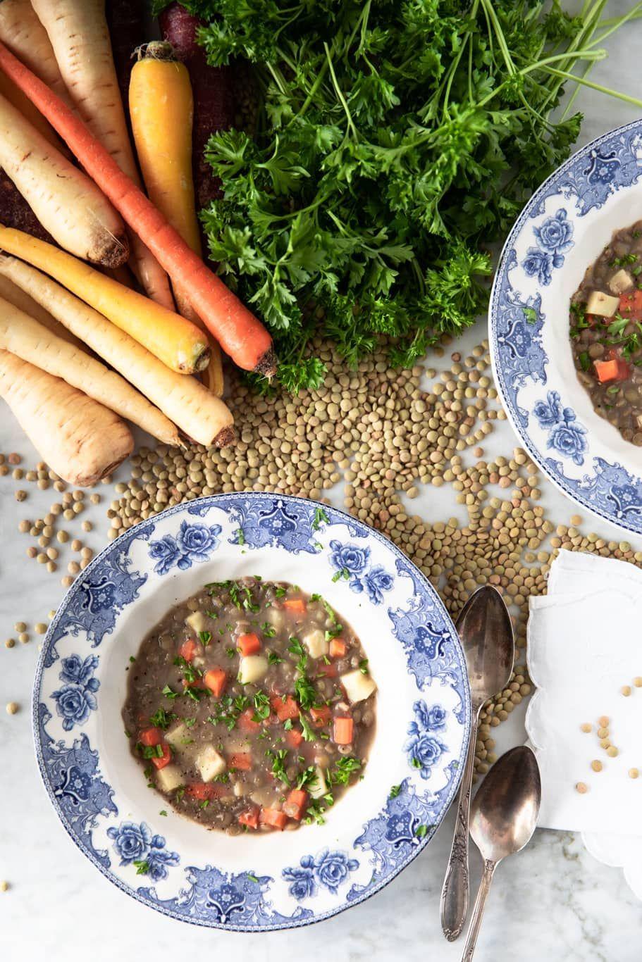 New Year's Good Luck Green Lentil Soup Recipe Lentil