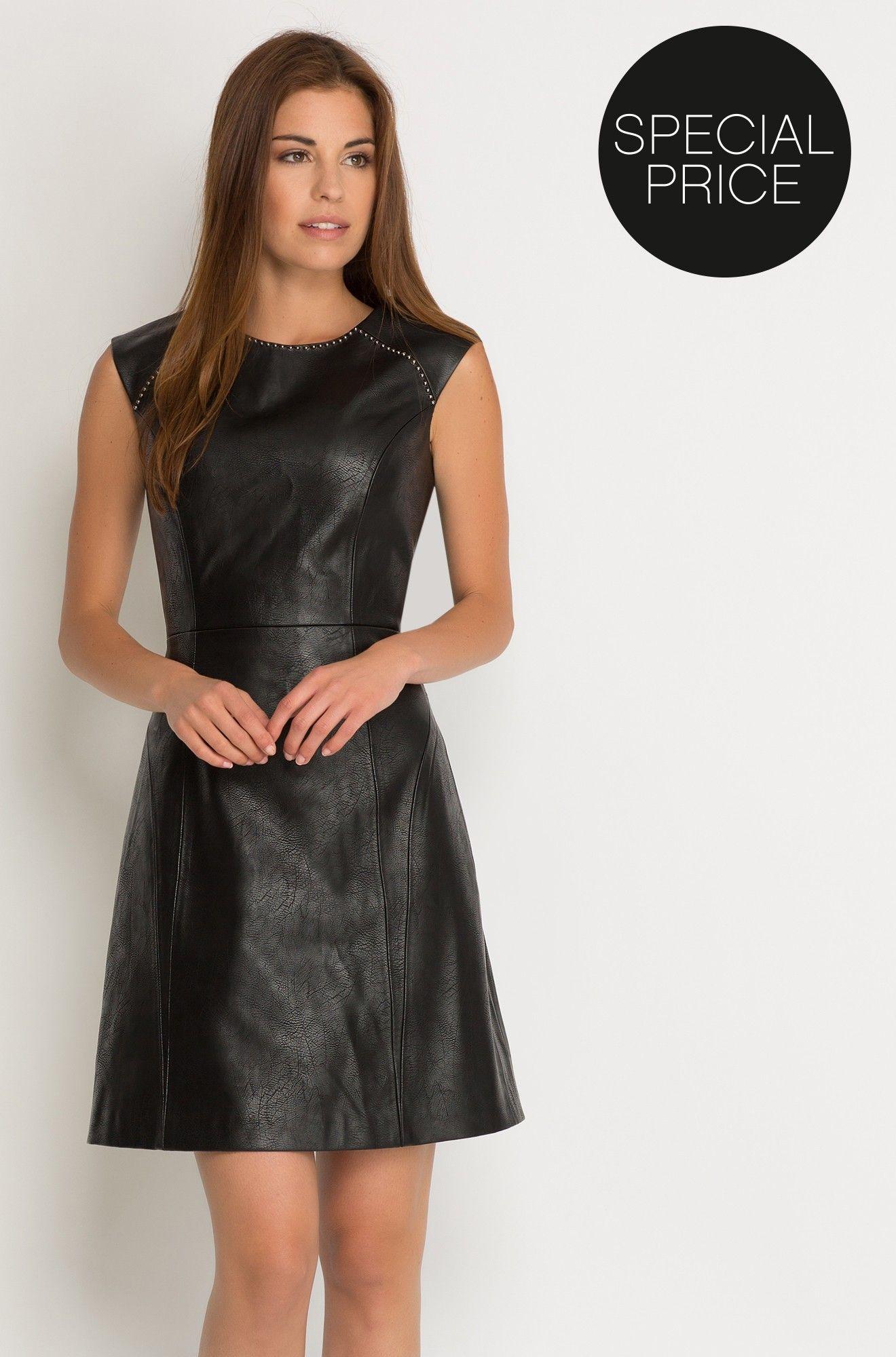 Kleid in Leder-Optik | Kleidung | Pinterest | Leder, Lederbekleidung ...