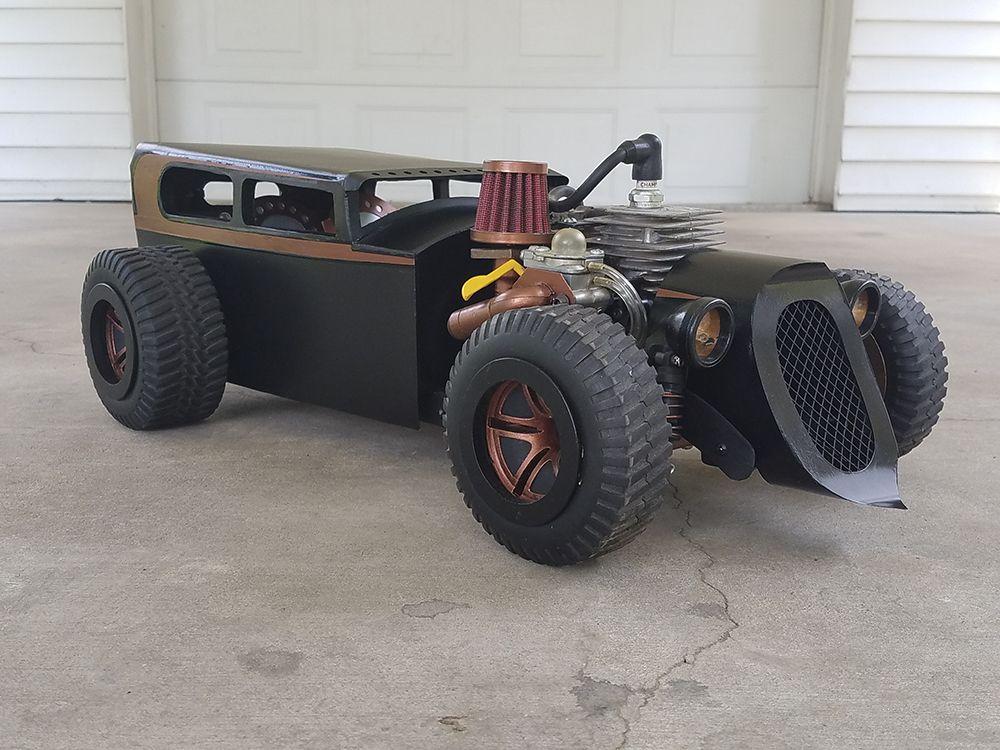 custom hot rod 1 5 scale gas powered homelite rat. Black Bedroom Furniture Sets. Home Design Ideas