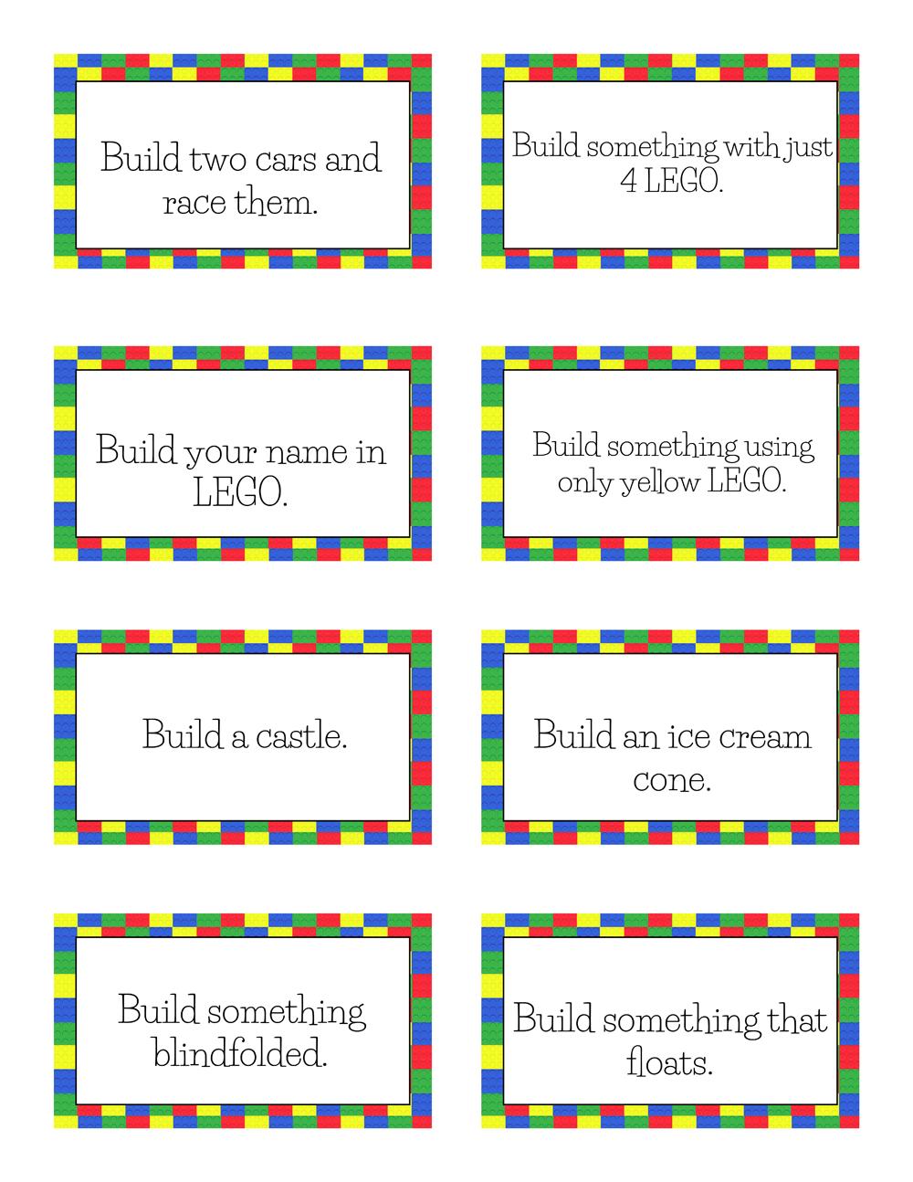Free Printable Lego Challenge Cards Lego Challenge Lego Activities Lego Classroom Theme