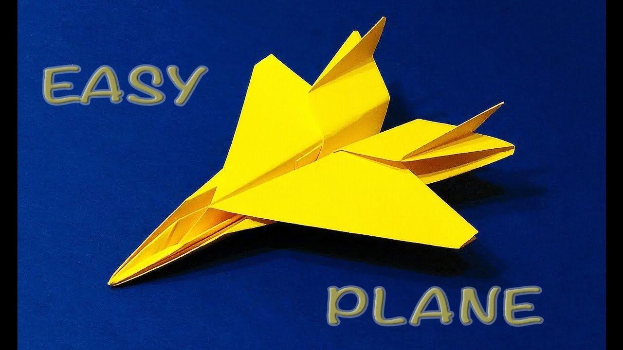 Origami F 15 Jet Easy tutorial. Paper Plane F15 . Flying