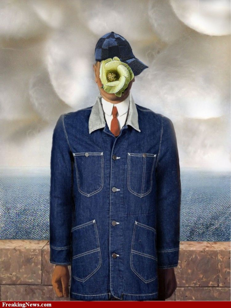 son of man magritte | Son of Man by Magritte Wearing Denim ...