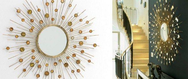 Decorar un espejo ideaspara decorar con espejos craft for Como decorar un espejo redondo