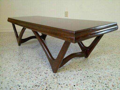 Mid Century Modern Adrian Pearsall Attributed Walnut Coffee Table