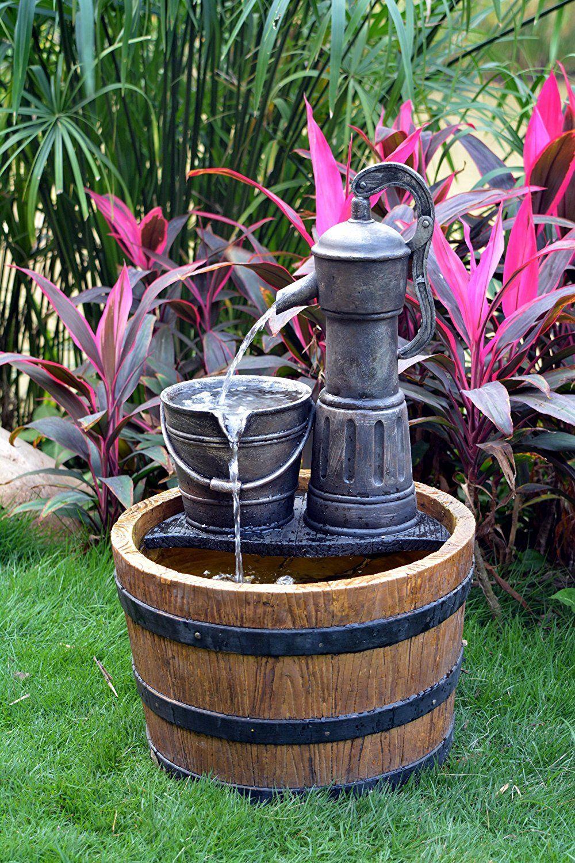 Amazon Com Solar Sunnysaze Old Fashioned Water Pump Kit 640 x 480