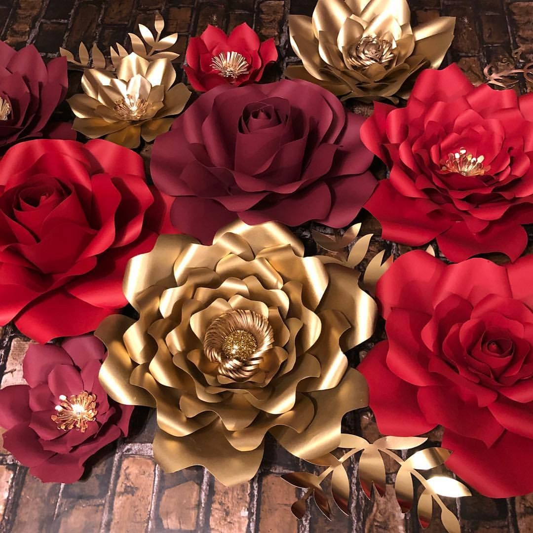 Pin By Patricia Ramirez On My Paper Flowers Paper Flowers Red
