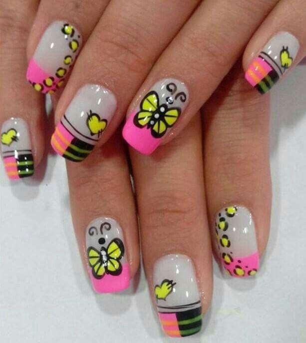 Pin de Vicky Moran en uñas | Pinterest | Uña decoradas, Uñas lindas ...