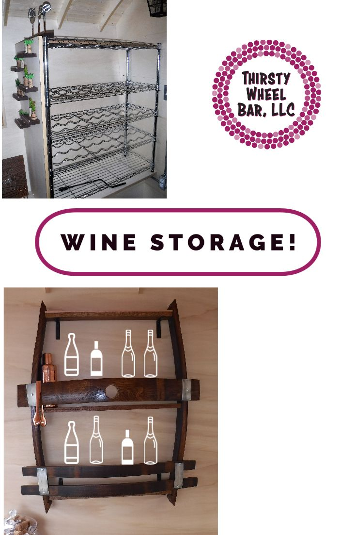 Wine Storage in our Mobile Bar For Sale Our mobile bar for sale has the coolest wine storage Room for sooo many bottles