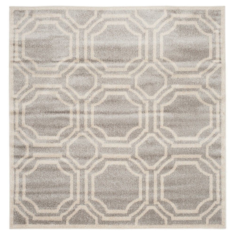 Safavieh Marseille Indoor Outdoor Area Rug Light Grey Ivory 5