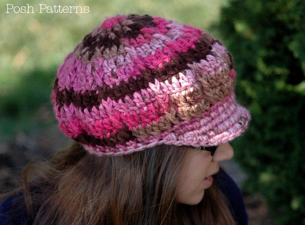 Crochet PATTERN - Crochet Slouchy Newsboy Hat Pattern ...