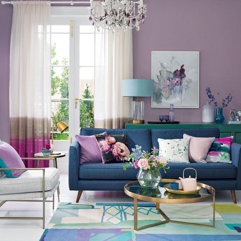 Lila Wohnzimmer Ideen, die einfach zu leben sind #einfach #ideen