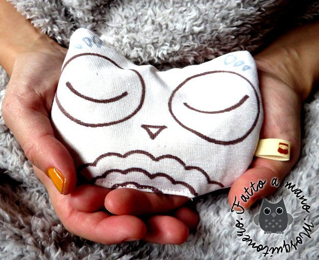 Warmy scaldamani scalda mani gufo gufetto owl regalo by Mosquitonero, by Mosquitonero Shop, 12,90 € su misshobby.com